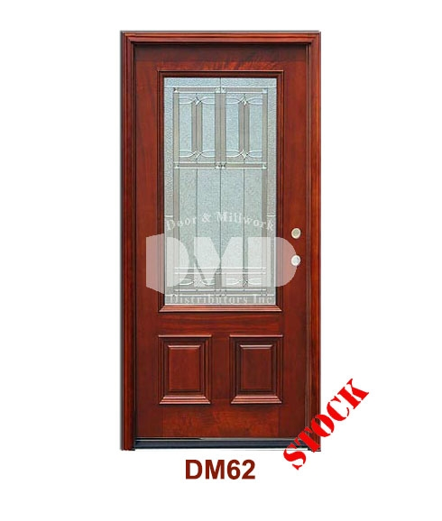 Dm62 Mahogany Exterior 3 4 Arch Lite Diablo Zinc Caming Door And Millwork Distributors Inc