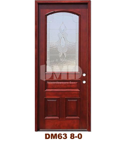 DM63 Mahogany Exterior 3/4 Arch Lite Strathmore Zinc Caming 8-0