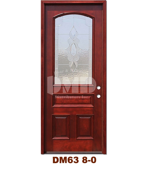 Dm63 Mahogany Exterior 3 4 Arch Lite Strathmore Zinc Caming 8 0 Door And Millwork Distributors
