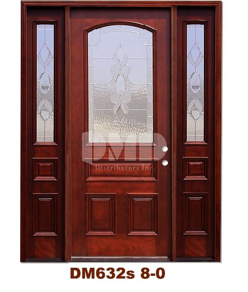 DM632s Mahogany Exterior 3/4 Arch Lite Strathmore Zinc Caming 8-0
