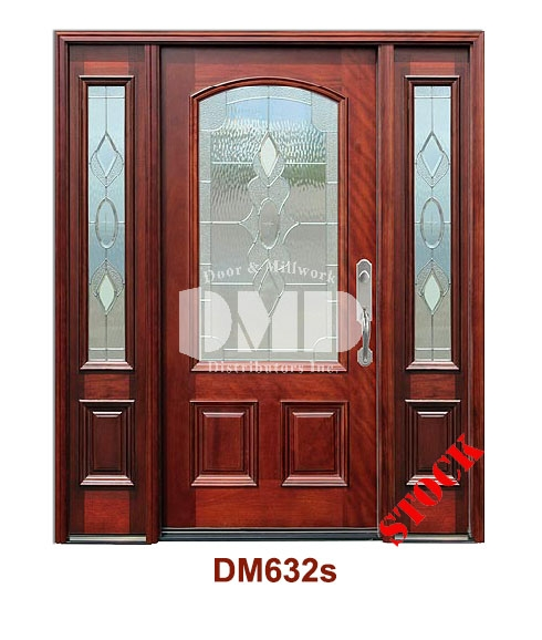 DM632s Mahogany Exterior 3/4 Arch Lite Strathmore Zinc Caming door dmd chicago wholesale distributor