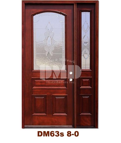DM63s Mahogany Exterior 3/4 Arch Lite Strathmore Zinc Caming 8-0