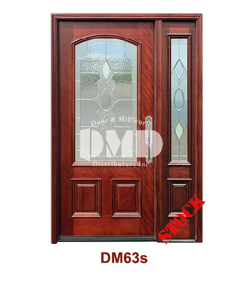 DM63s Mahogany Exterior 3/4 Arch Lite Strathmore Zinc Caming door dmd chicago wholesale distributor