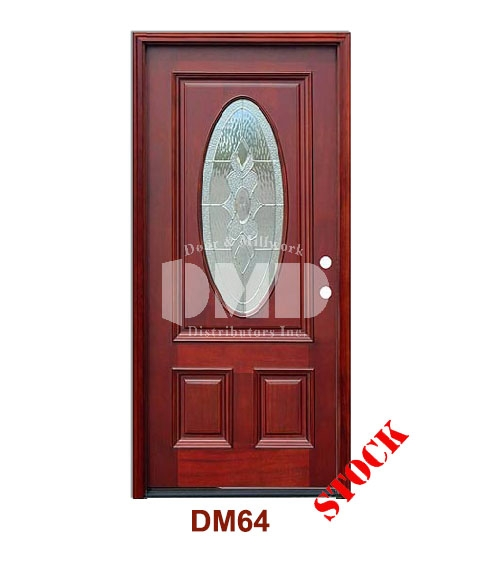 DM64 Mahogany Exterior 3/4 Std Oval Strathmore Zinc Caming door dmd chicago wholesale distributor