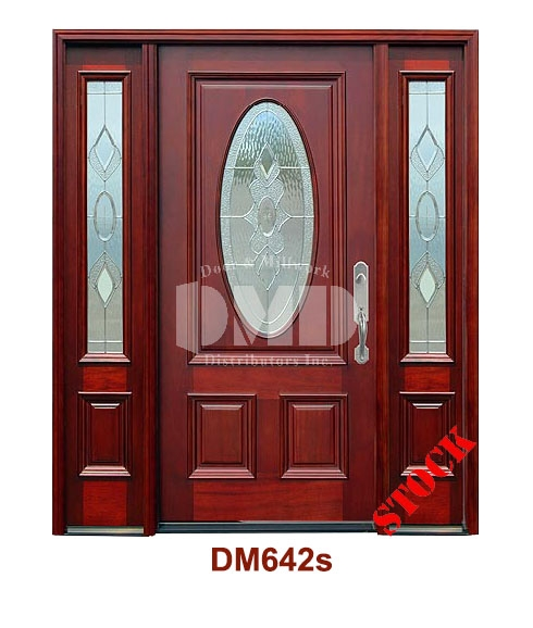 DM642s Mahogany Exterior 3/4 Std Oval Strathmore Zinc Caming door dmd chicago wholesale distributor