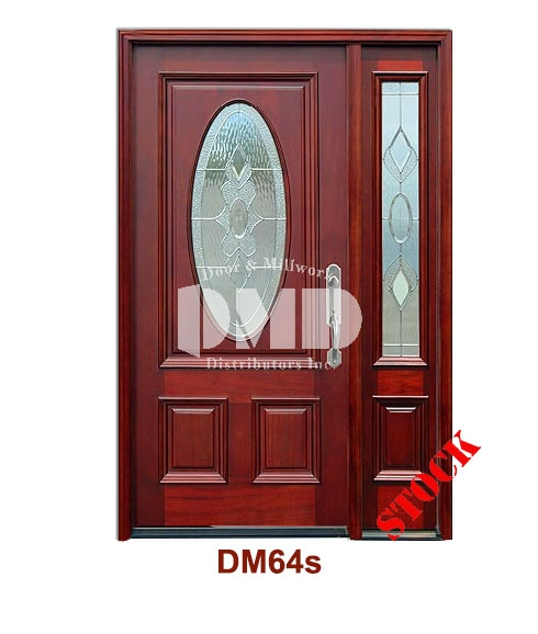 DM64s Mahogany Exterior 3/4 Std Oval Strathmore Zinc Caming door dmd chicago wholesale distributor