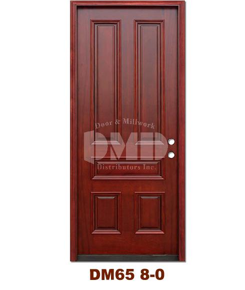 dm65 5 panel contemporary exterior wood mahogany door 8 0 door and