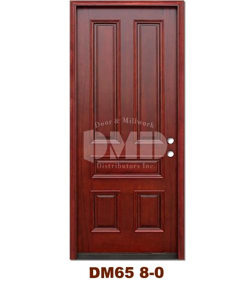 Dm65 5 Panel Contemporary Exterior Wood Mahogany Door 8 0