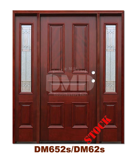 DM652s/D62s 5 Panel Exterior Wood Mahogany Door