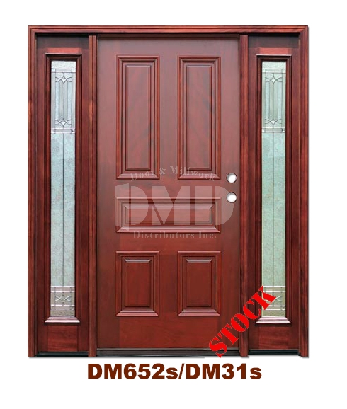 DM652s/DM31s 5 Panel Exterior Wood Mahogany Door