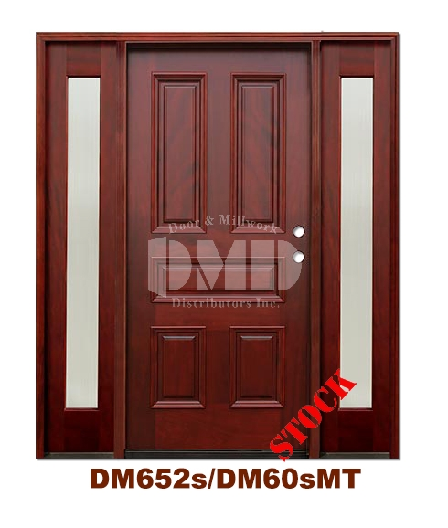 DM652s/DM60sMT 5 Panel Exterior Wood Mahogany Door