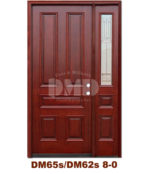 DM65s/DM31s 5 Panel Exterior Wood Mahogany Door 8-0