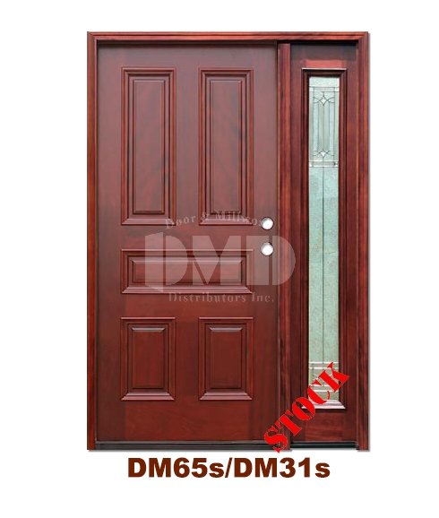 DM65s/DM31s 5 Panel Exterior Wood Mahogany Door