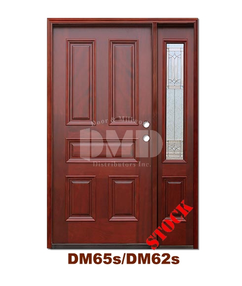 DM65s/DM62s 5 Panel Exterior Wood Mahogany Door