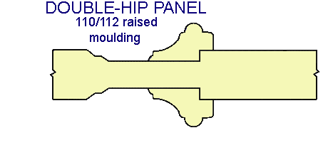 DOUBLE-HIP PANEL 110/112 raised moulding
