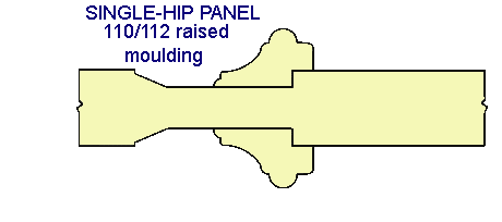SINGLE-HIP PANEL 110/112 raised moulding