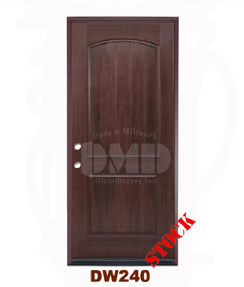 DW240 Dark Walnut Exterior Fiberglass Door