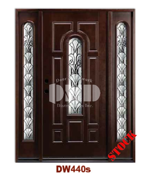 DW440s Dark Walnut Exterior Fiberglass Door dmd chicago wholesale distributor