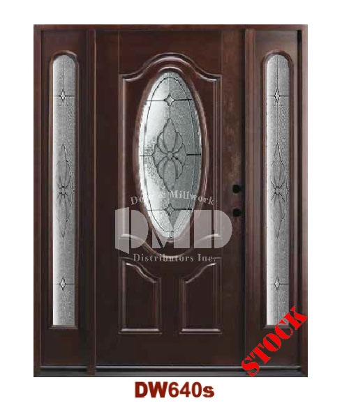 DW640s Dark Walnut Exterior Fiberglass Door dmd chicago wholesale distributor