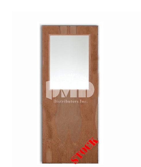 Flush birch solid core commercial door with half glass for Solid flush door