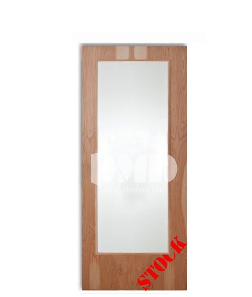 Flush Birch Solid Core with Full Glass Insert 7-0