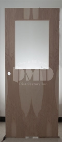 Flush Birch Solid Core Commercial Door With Half Glass