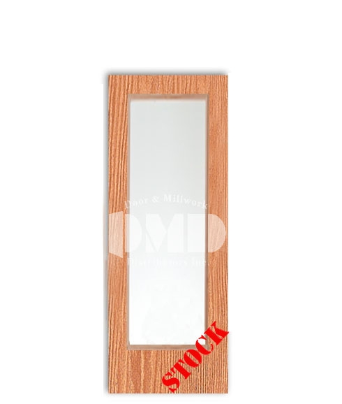 Flush Oak Solid Core with Full Glass Insert 6-8