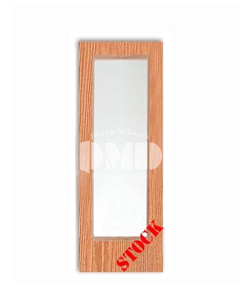 Flush Oak Solid Core with Full Glass Insert 7-0