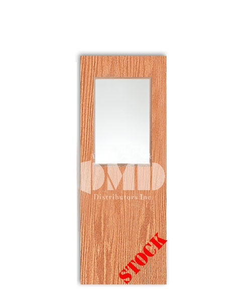 Flush Oak Solid Core with Half Glass Insert 6-8