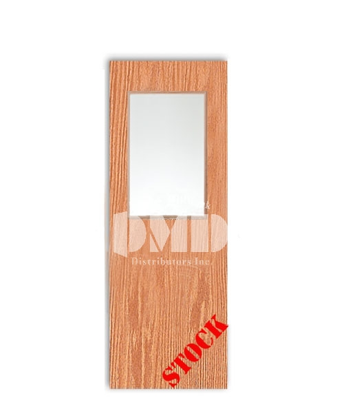 Flush Oak Solid Core with Half Glass Insert 7-0