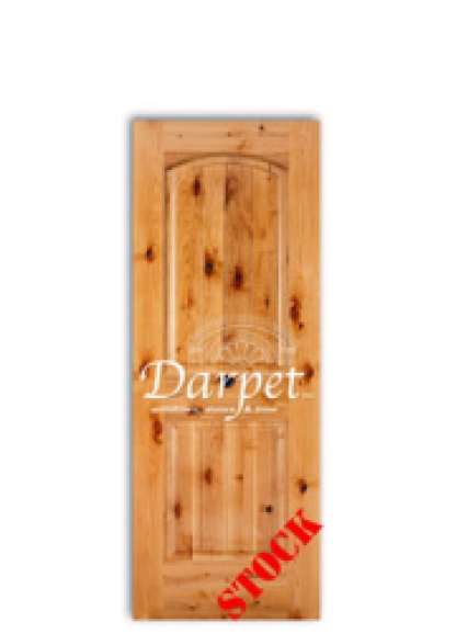 knoty-alder-2-panel-arch-v-grove interior wood door dmd chicago wholesale distributor