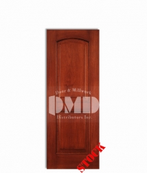 2-panel-arch-mahogany-6-8 wood interior door dmd chicago wholesale distributor