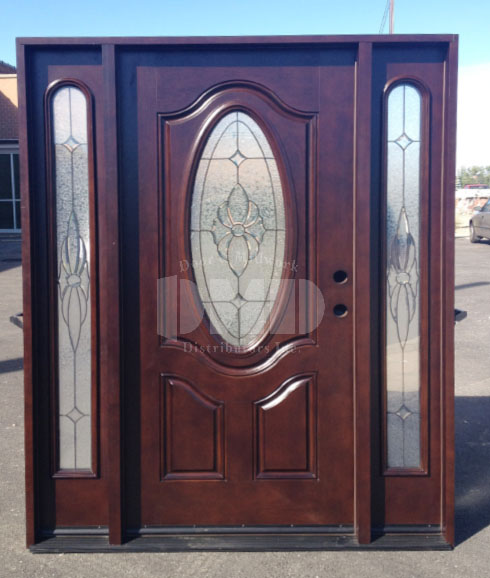 Mahogany Exterior Fiberglass Door M640 Dmd Chicago Door And Millwork Distributors Inc