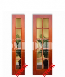 5-10-lite-mahogany-clear-glass french interior wood door dmd chicago wholesale distributor
