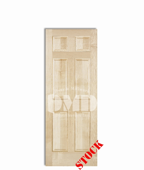6-panel-maple interior wood door dmd chicago wholesale distributor