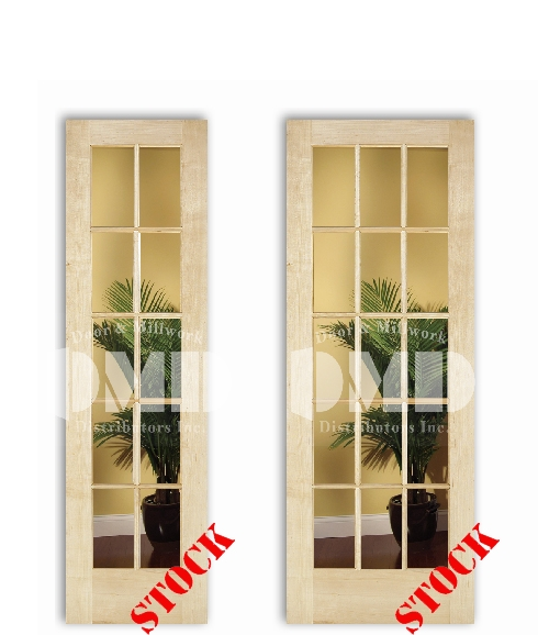 10-15-lite-clear-glass-maple interior wood door dmd chicago wholesale distributor