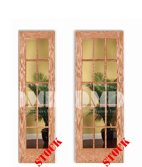 10 15 lite french clear glass red oak 6 39 8 80 door for 15 lite interior french door