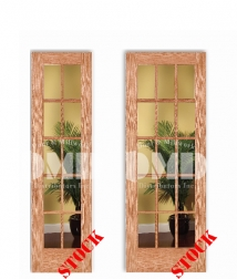 10-15-lite-clear-glass-oak-6-8 interior wood door french dmd chicago wholesale distributor