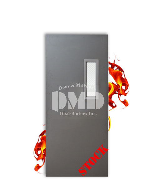 Hollow Metal Commercial Steel Fire Rated Door With Glass